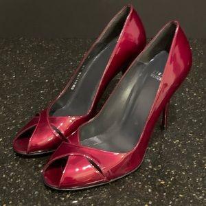 Stuart Weitzman Sashay Fire Quasar Red Pump Heels